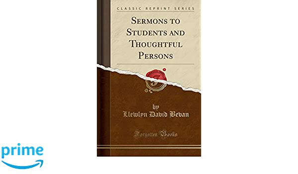 Amazon com: Sermons to Students and Thoughtful Persons (Classic