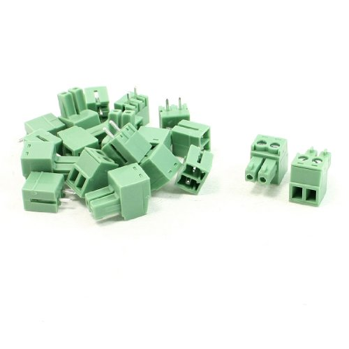 Pluggable Terminal (uxcell 10 Set 2 Terminals 3mm Pitch PCB Mount Screw Terminal Block AC 300V 8A)