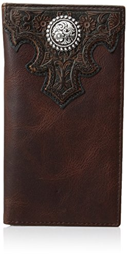 Western Accessories (Ariat Men's Oil Scroll Over Top Rodeo Western Wallet, Brown, One Size)