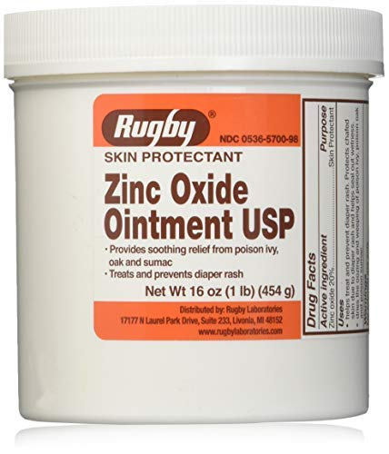 Rugby Zinc Oxide Skin Protectant Unscented Ointment 16 oz. Jar