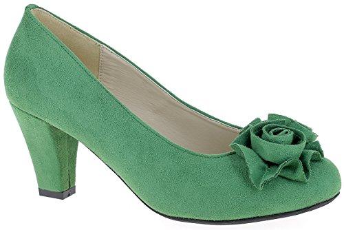 Andrea Conti - Zapatos de vestir para mujer * * Verde