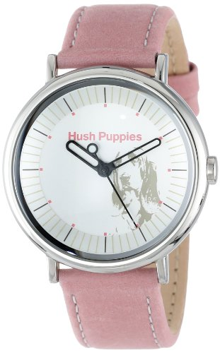 Hush Puppies Women's HP.3760L.2512 Signature Round Stainless Steel Genuine Leather Watch