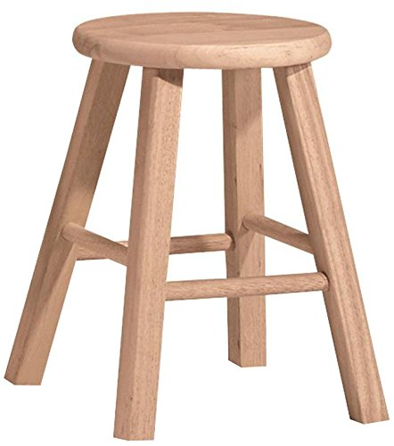 - International Concepts 18-Inch Round Top Stool, Unfinished