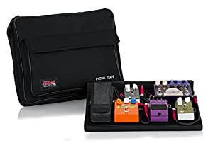Gator GPTBLACK Plywood Pedal Board with Black Nylon 18 x 12 Inches Carry Bag and External Pocket
