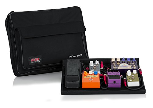 Gator Cases Guitar Effects Pedal Board with Tote Bag, Velcro Surface, and G-BUS Multi-Output Power Supply; Standard Size: 16.5