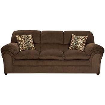 Amazon Com Simmons Upholstery 6150 03 Harper Umber Sofa Kitchen