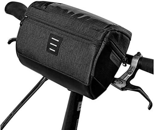 自転車バッグ サイクリングハンドルバー収納バスケットバッグマウンテンはロードMTB屋外用フロントフレームバッグ防水パニエの自転車 装着簡単 (色 : Black, Size : One size)