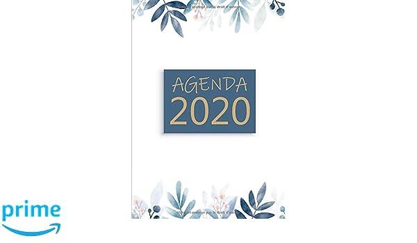 Agenda: Semainier - Petit Format A5 - Motif Fleur Bleu Rose ...