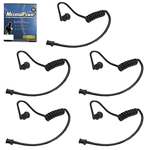 (MaximalPower Twist On Replacement Black Coiled Acoustic Tube for Two-Way Radio Surveillance and Listen Only Earpiece (5)