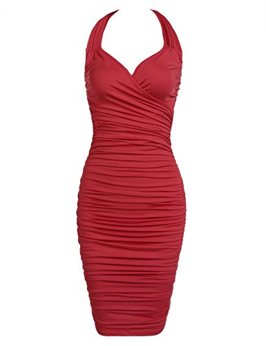 Bifast Girls Summer Cold Shoulder Plunge Pleat Slip Mini Tight Wedding Dress - Goddess Pleats Wrap
