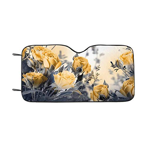- INTERESTPRINT Bouquet of Delicate Roses Car Sun Shades UV Protector, Auto Windshield Shades to Keep Cool