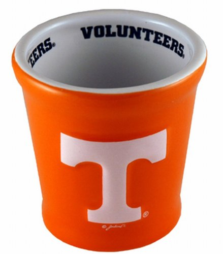 NCAA Tennessee Volunteers Ceramic Relief T Shotglass, One Size, Multicolor (Fan Glass Sports Shot)
