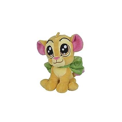 Nicotoy/kitchoun – Doudou Disney peluche Glamour el rey León Simba amarillo nudo verde 25