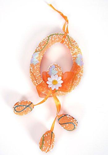 Easter SOMAN Foam DIY Eggs String Decoration Ornaments Assorted Color