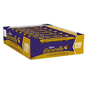 CARAMELLO Chocolate Candy Bar, Milk Chocolate Filled with Caramel, 2.7 Ounce Package (Pack of 18) (Halloween Candy)