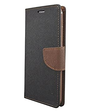 COVERNEW Mercury  Flip cover for Xiaomi Mi 4i::Mi4i   Black::Brown Cases   Covers