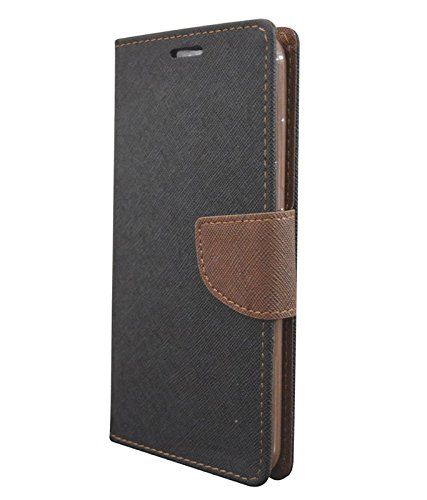 promo code 79c4a 9fd17 COVERNEW Flip Cover for Asus Zenfone Max Z010D(Black and Brown)