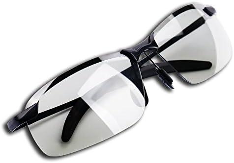 Men/'s Polarized Sunglasses Photochromic Day Night Driving Sports Glasses Goggles