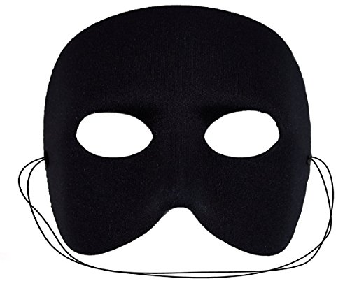 Success Creations USA Men's Casanova Masquerade Mask One Size Fits All Black - Venetian Casanova Costume