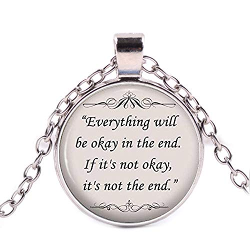 John Lennon Song Quote Necklace - Everything Will be ok in The end ()