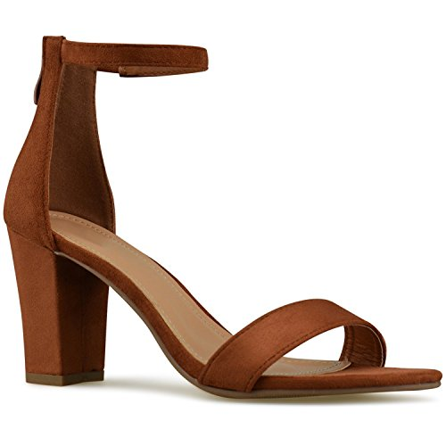 Strappy Standard Orange High Burnt Classic Simple Formal Party Women's Chunky Wedding Premier Heel Block Pump FESxHFqw