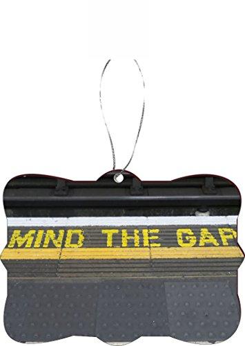 Rikki KnightTM Mind the Gap on London Subway Underground Design Tree Ornament / Car Rear View Mirror Hanger