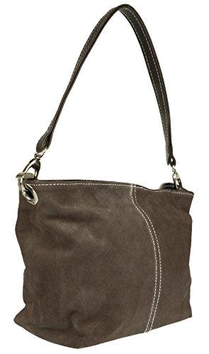 Coffee Suede Shoulder Girly Genuine New Bag Tote HandBags Dark Leather Handbag q44Hvgx