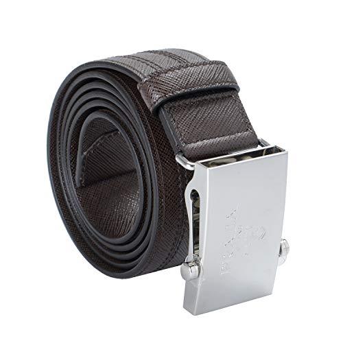 Prada Brown 100% Leather Men's Belt Sz US 40 IT 100 (Prada Brown Belt)