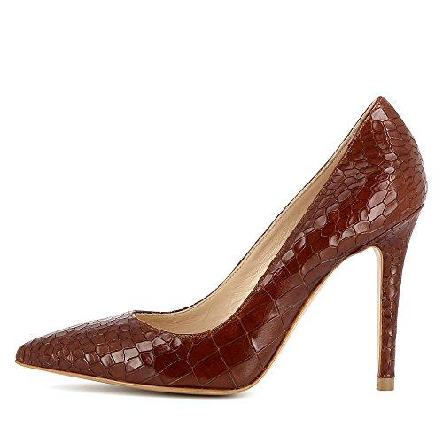 Evita Shoes Alina - Zapatos de vestir de Piel para mujer marrón