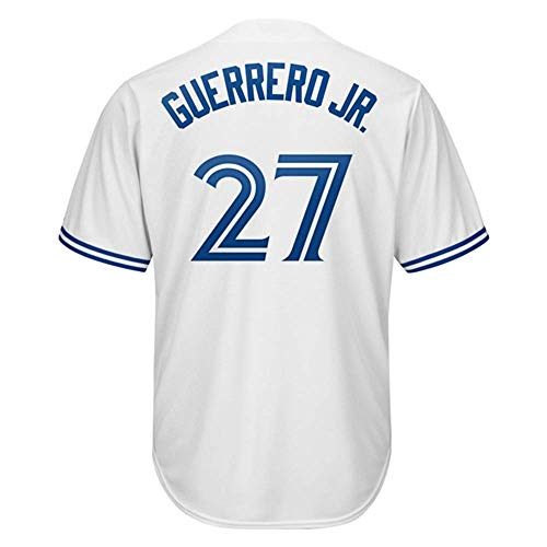(Men/Women/Youth Yoan_Vladimir_#27_Guerrero_Jr Youth Cool Base Alternate Replica Baseball Jersey-White)