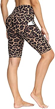 """ALONG FIT Yoga Shorts 5"""" - 11"""" Biker Shorts for Women with Pockets High Waisted Running Workout Shor"""