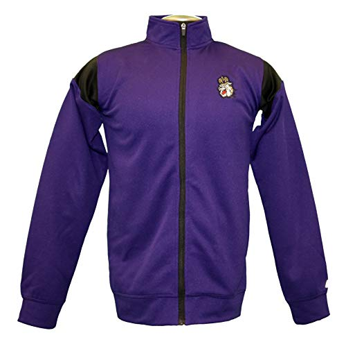 (RussellApparel NCAA James Madison University Men's Fleece Mesh Full-Zip Mock Neck Sweatshirt - M, Purple, James Madison University)