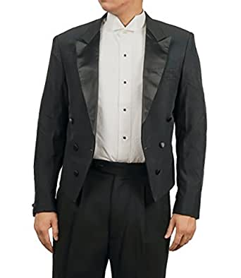 Men's Black Tuxedo Jacket with Tails Tailcoat (36L)
