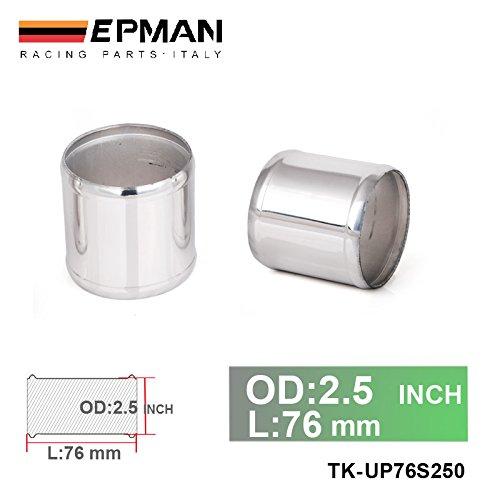 EPMAN 2.5' OD X 3' Long Aluminum Racing Intake/Turbo Intercooler Piping/Hose Joiner Pipe (Silver) RUIAN EP INTERNATIONAL TRADE CO. LTD