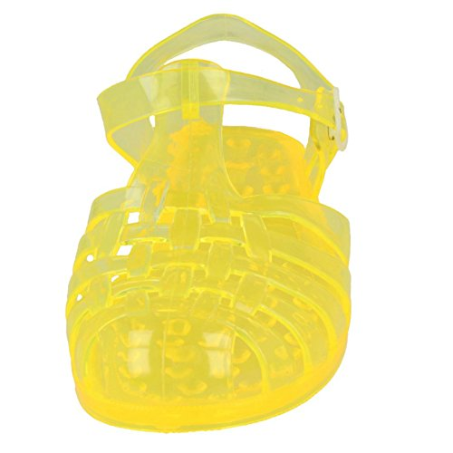 bbfe61e6be8f  F0714  Classic 8 Buckled Storlek Gul Ladies Transparent Shoes Jelly UK  ZdznxwX