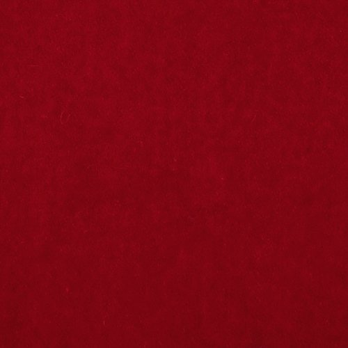 TELIO Wool Blend Melton Fabric by The Yard, Red