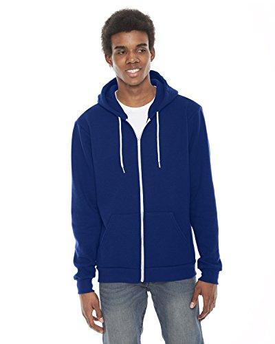 American Apparel F497W Unisex Flex Fleece Zip Hoodie Lapis L