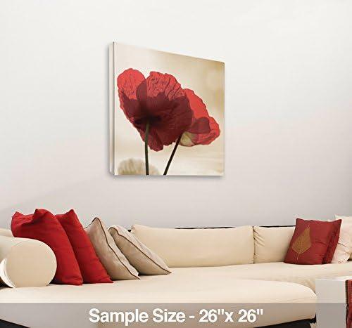 JP London 2 Thick Heavyweight Gallery Wrap Wall Canvas Art White Rose Wedding Bouquet Flowers 26 Inch SQCNV2377