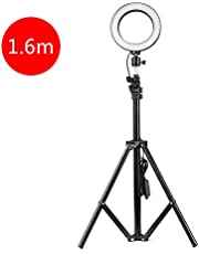 Anself Adjustable 160mm Photography LED Selfie Light-Ring Stepless Lighting Dimmable Fill Light Lamp With USB For Live Streaming Camera Video Beauty (1600mm Stand)