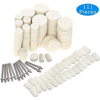 Wool Felt Polishing Pad Kit Buffing Wheels /& Point Mandrel Rotary Tools 90PCS