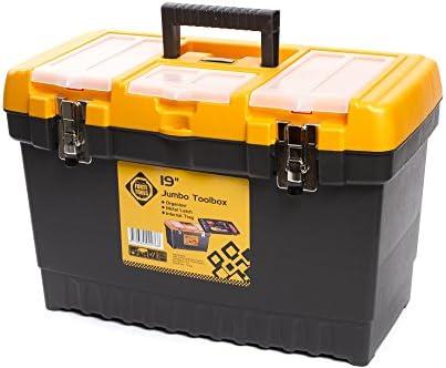 Caja organizadora de herramientas Forte con cerradura de metal y ...