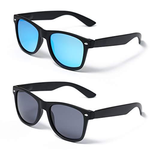GLADVISION Polarized 80s Retro Classic Driving Sunglasses for