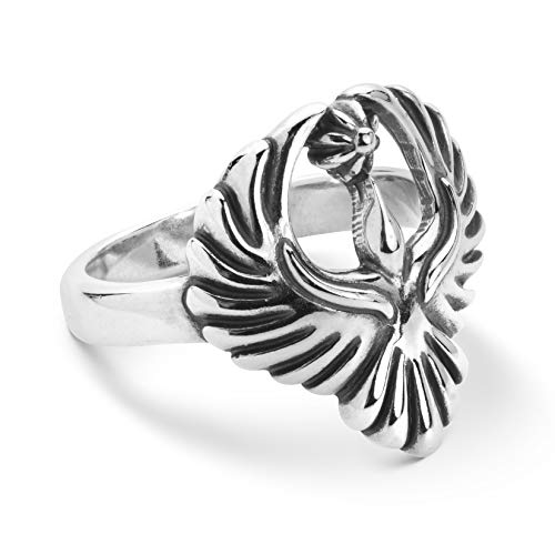 (American West Sterling Silver Open Wings Soaring Eagle Ring Size 10)