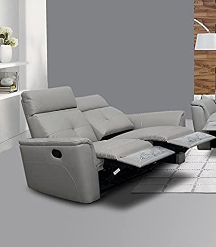 Amazon.com: Esf 8501 Sillón Reclinable Loveseat Chic Gris ...