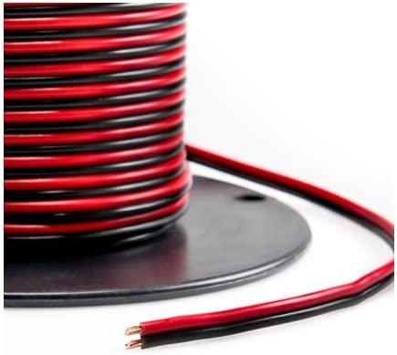 B072L89M7R Valley Enterprises Red/Black Bonded Zip Cord Easy ID Low Voltage DC Power Cable (Gauge: 12, Length: 50 feet) 41KI2SfAc5L