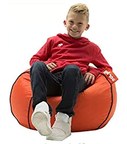 (Gaming Chairs For Kids Bean Bag For Kids-Basketball Print Polyester Super Soft Seating Companion for Your Little)
