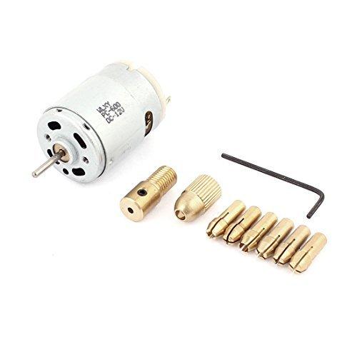 DealMux 12V Motor 0.5-3mm Electric Drill Bit Collet Broca Chuck Set