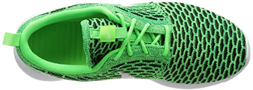 Nike Womens Roshe One Flyknit Scarpa Da Corsa Voltage Green / White-lucide Green