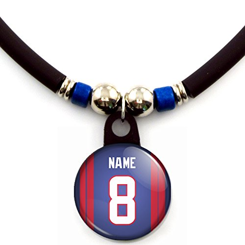 Houston Football Jersey Necklace Personalized with Your Name and Number