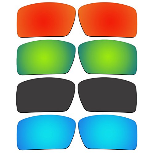 4 Pair Replacement Polarized Lenses for Oakley Eyepatch 2 Sunglasses Pack - Eyepatch Oakley 2 Lenses Replacement